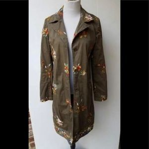 SALE! Johnny was embroidered  green jacket small